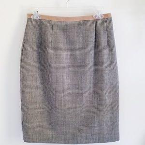 Wool cashmere blend plaid skirt by Harve Benard 8